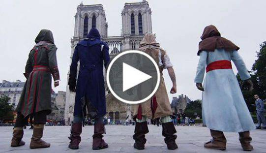 Assassin's Creed nella vita reale, ecco l'incredibile video girato a Parigi